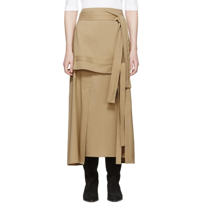 31 Phillip Lim Beige Wool Patchwork Skirt