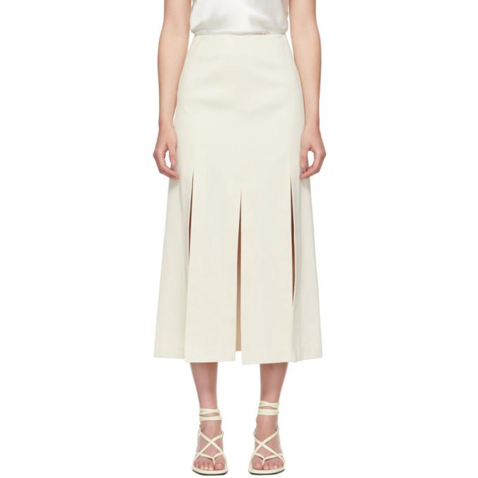 31 Phillip Lim Off White Sateen Multi Slit Skirt