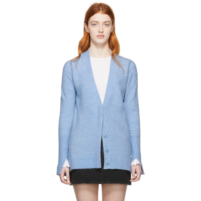 31 Phillip Lim Blue Side Slit Lofty Cardigan