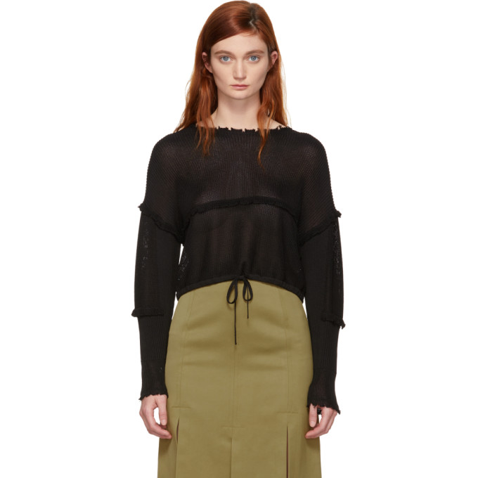 31 Phillip Lim Black Cropped Sweater