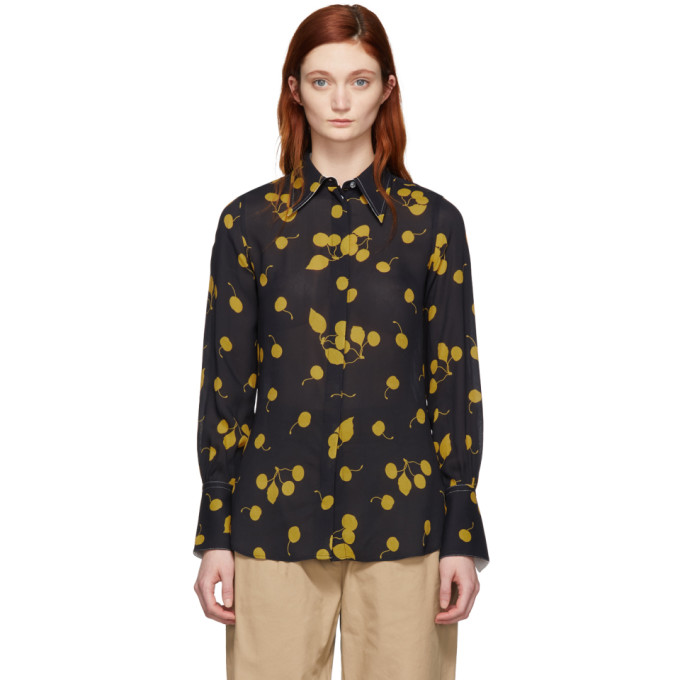 3.1 Phillip Lim Black Crepe Shirt