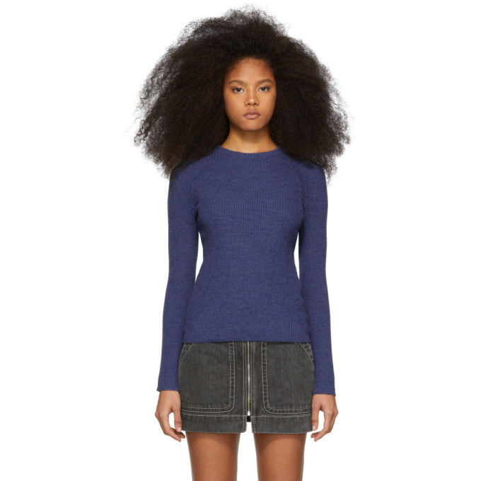 31 Phillip Lim Blue Ribbed Sweater