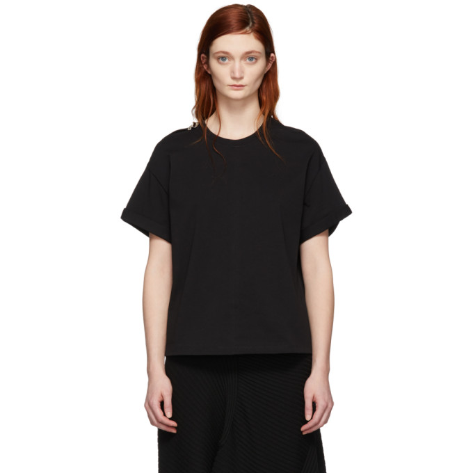 31 Phillip Lim Black Shoulder Slit T Shirt