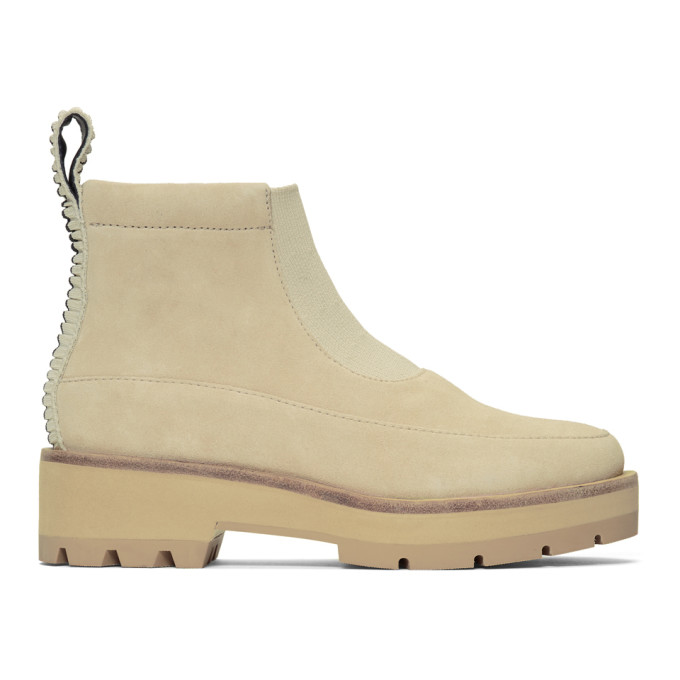 Image of 3.1 Phillip Lim Beige Suede Avril Boots