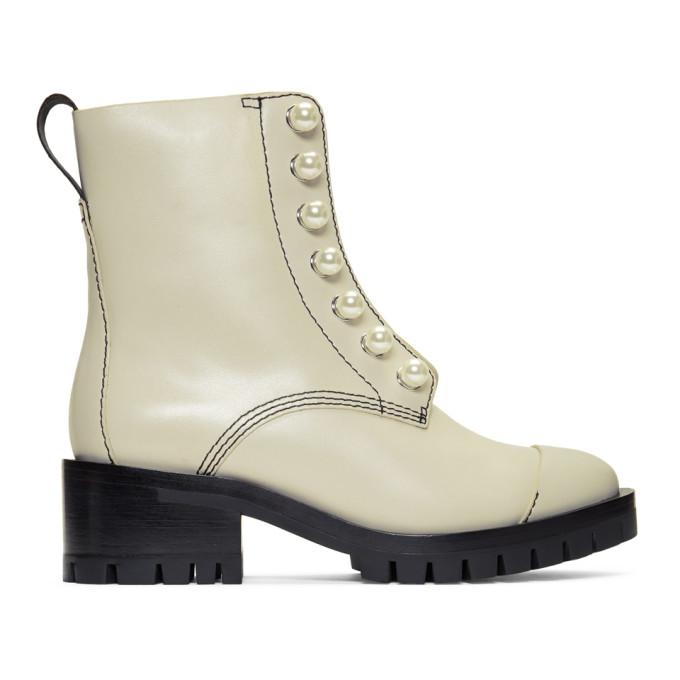 31 Phillip Lim Grey Hayett Pearl Boots