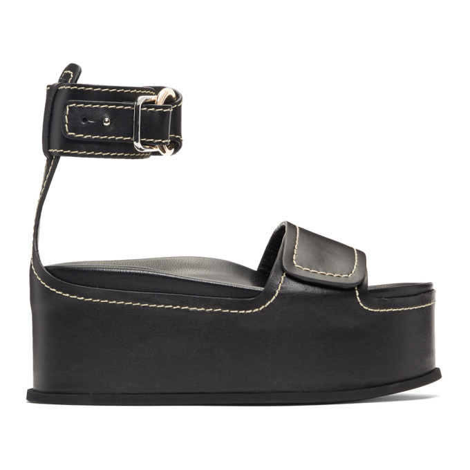 3.1 Phillip Lim Black Freida Platform Sandals