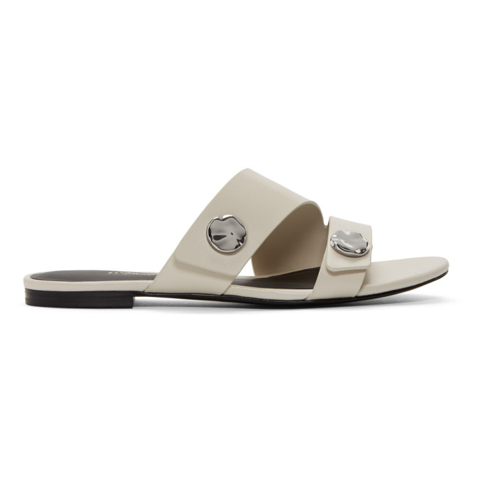 3.1 Phillip Lim Grey Drum Slide Sandals