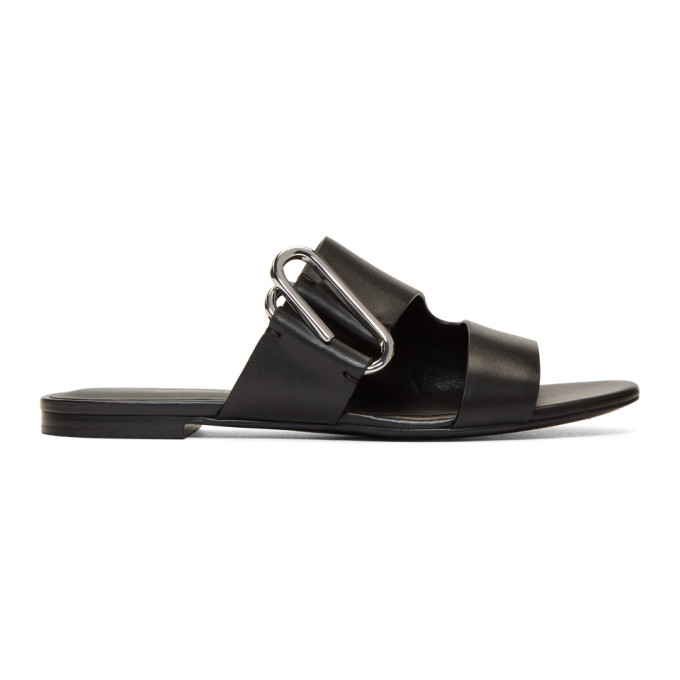 3.1 Phillip Lim Black Alix Flat Sandals