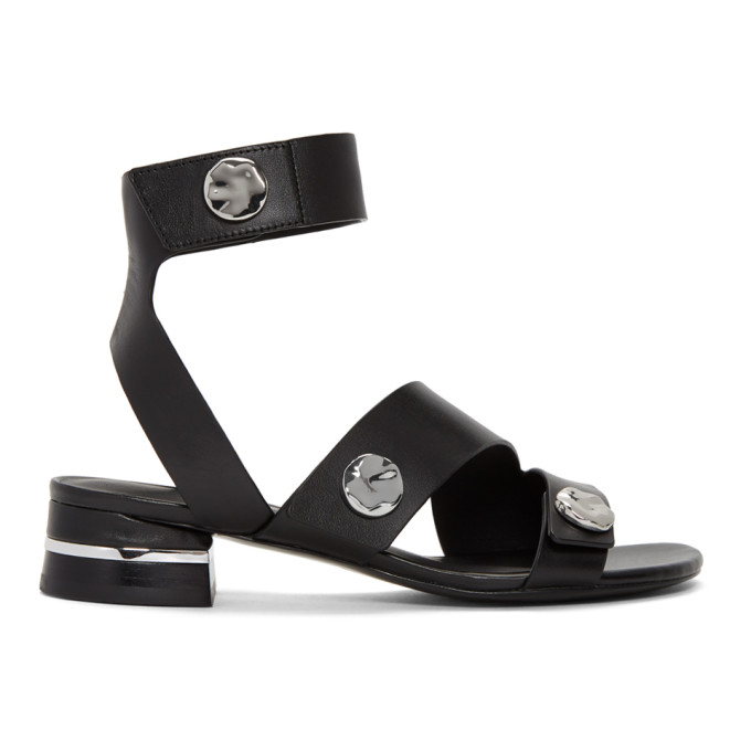 31 Phillip Lim Black 30MM Drum Sandals