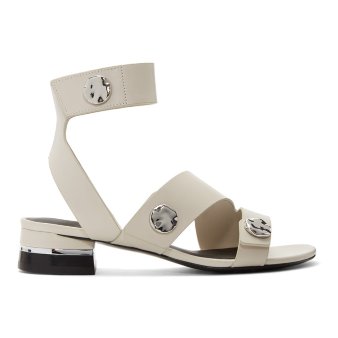 31 Phillip Lim Grey 30MM Drum Sandals