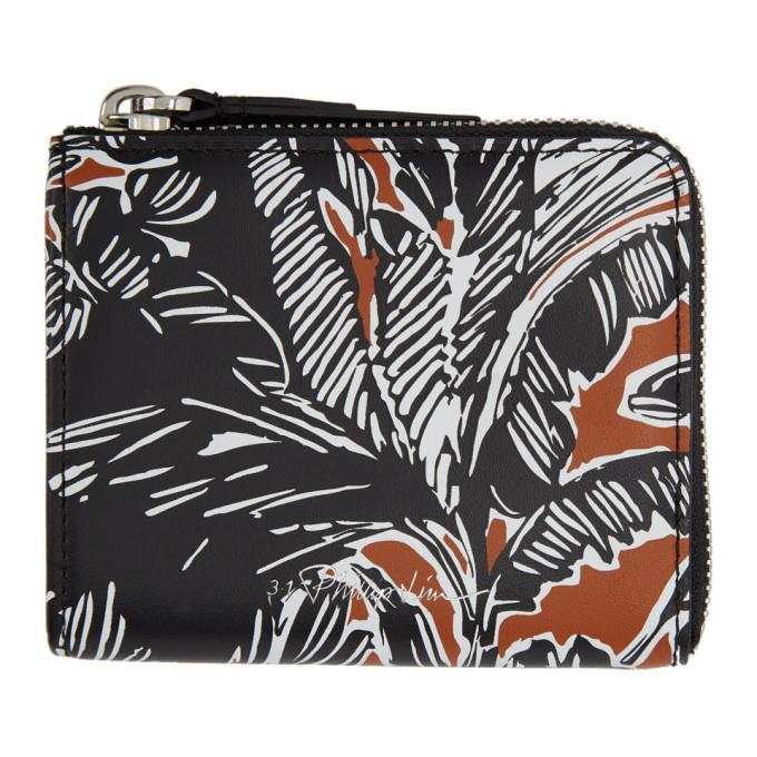 31 Phillip Lim Brown Black Mini Zip Around Wallet