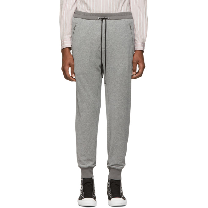 31 Phillip Lim Grey Dropped Rise Tapered Lounge Pants