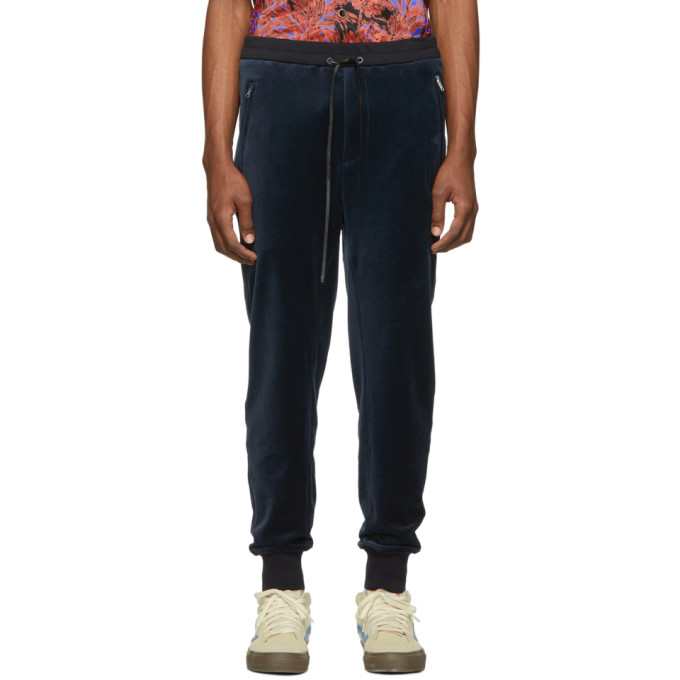 31 Phillip Lim Navy Relaxed Cropped Tapered Lounge Pants