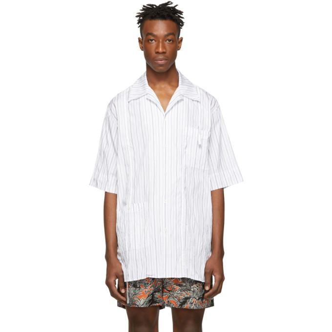 31 Phillip Lim White Oversized Souvenir Tunic Shirt