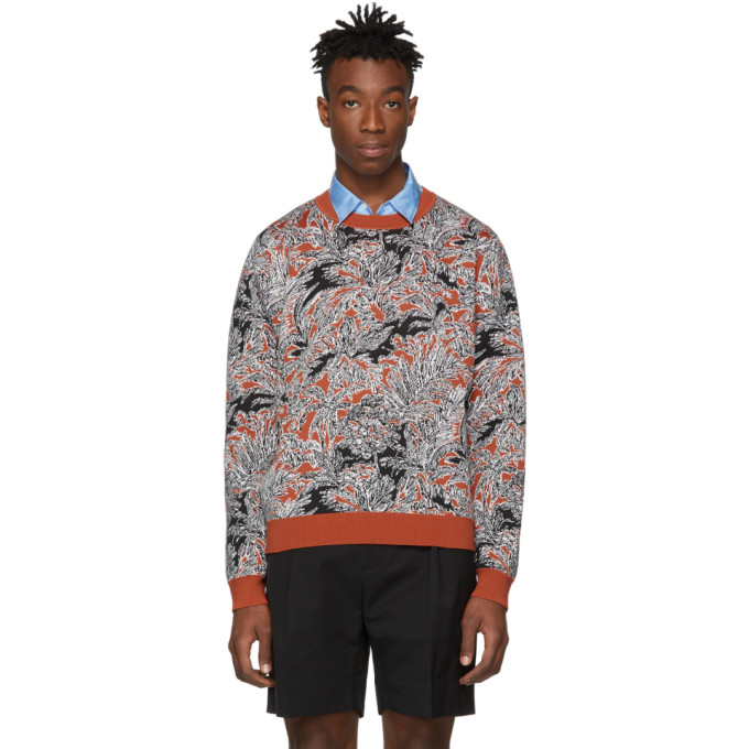 31 Phillip Lim Tan Floral Palm Tree Sweater