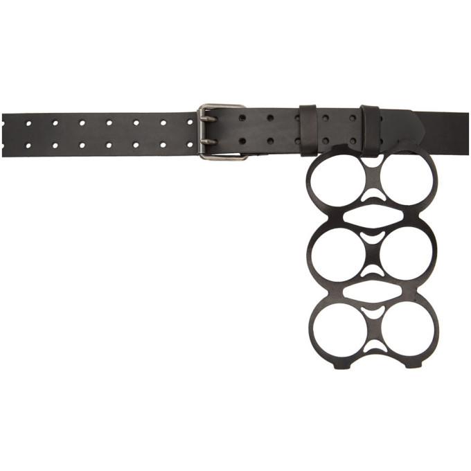 RAF SIMONS | Raf Simons Black Six Pack Belt | Goxip