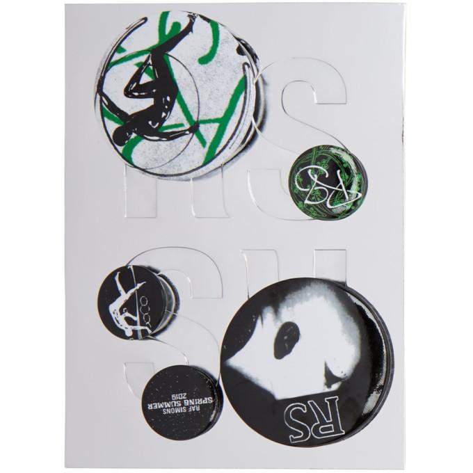 Raf Simons Black & Green Logo Pin Set