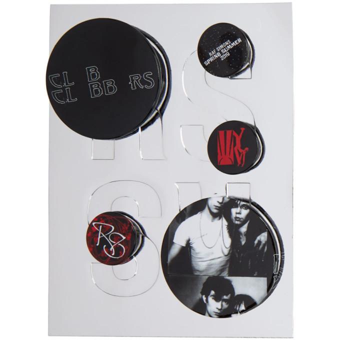 Raf Simons Black & Red Logo Pin Set