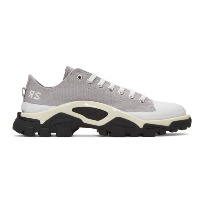 Raf Simons Grey Adidas Originals Edition Detroit Runner Sneakers In 01099 Whtbl