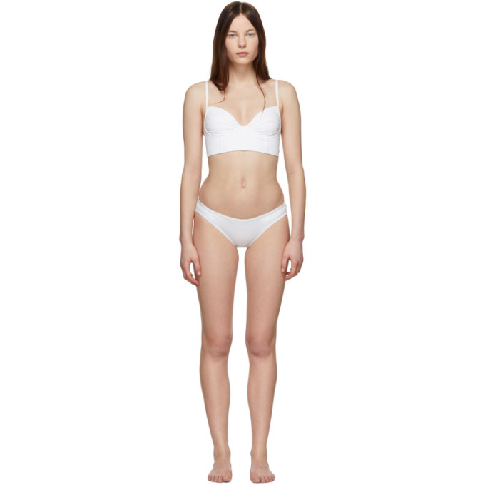 Proenza Schouler Bikini blanc Bustier