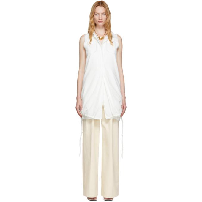 Proenza Schouler Chemise sans manches en coton blanche