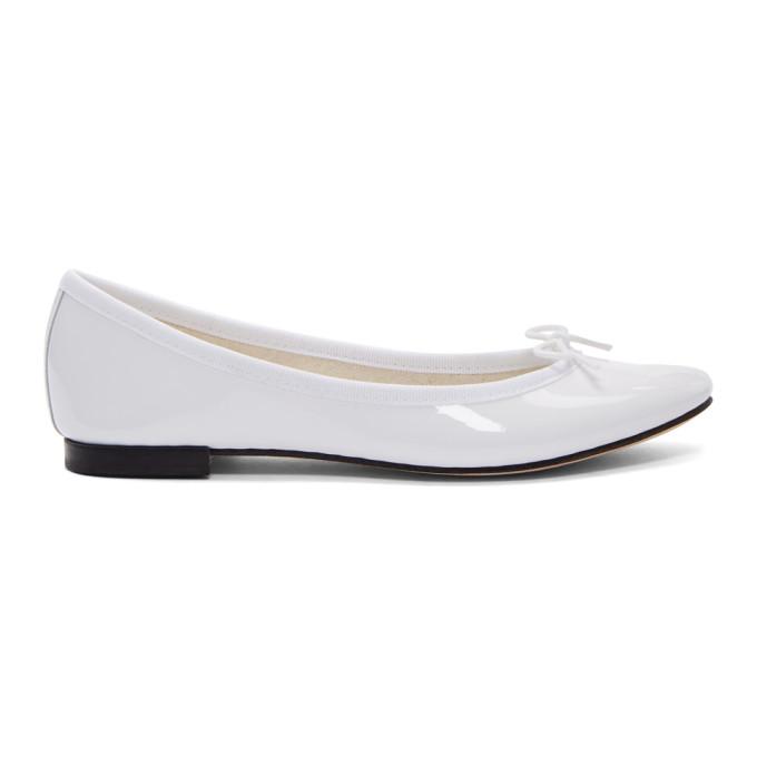 Repetto White Patent Cendrillon Ballerina Flats