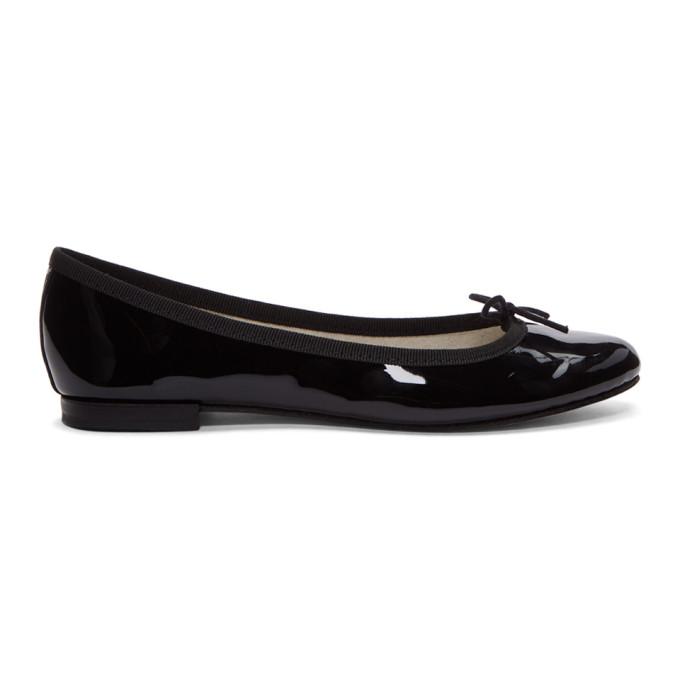 REPETTO | Repetto Black Patent Cendrillon Ballerina Flats | Goxip