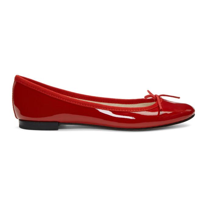 REPETTO | Repetto Red Patent Cendrillon Ballerina Flats | Goxip