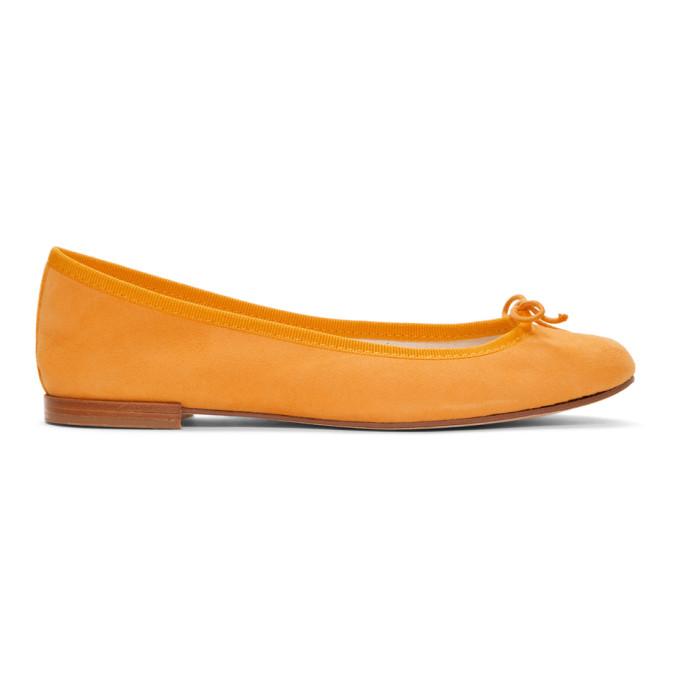 REPETTO   Repetto Yellow Suede Cendrillon Ballerina Flats   Goxip