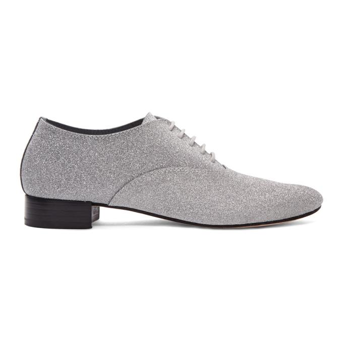 Repetto Silver Glitter Zizi Oxfords