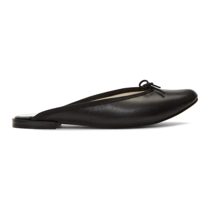Repetto Black Leila Mule Ballerina Flats
