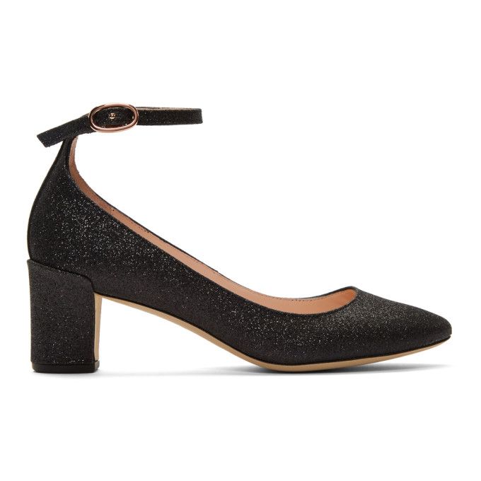 Image of Repetto Black Glitter Electra Mary-Jane Heels