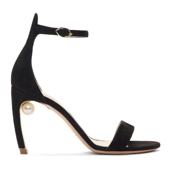 Nicholas Kirkwood Black Mira Pearl Sandals