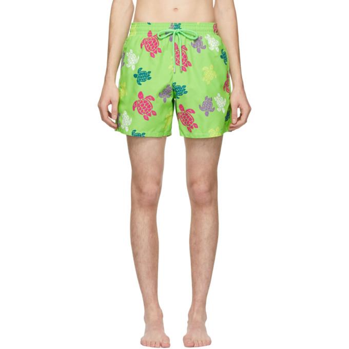 Vilebrequin Maillot de bain vert Tortues Multicolores Moorea