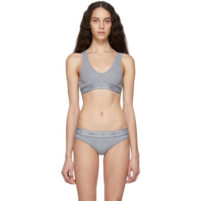 CALVIN KLEIN | Calvin Klein Underwear Reversible Grey FLX Bralette | Goxip