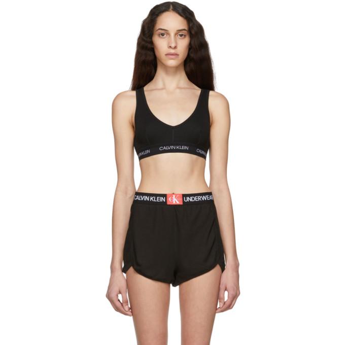 CALVIN KLEIN | Calvin Klein Underwear Black Statement Bralette | Goxip