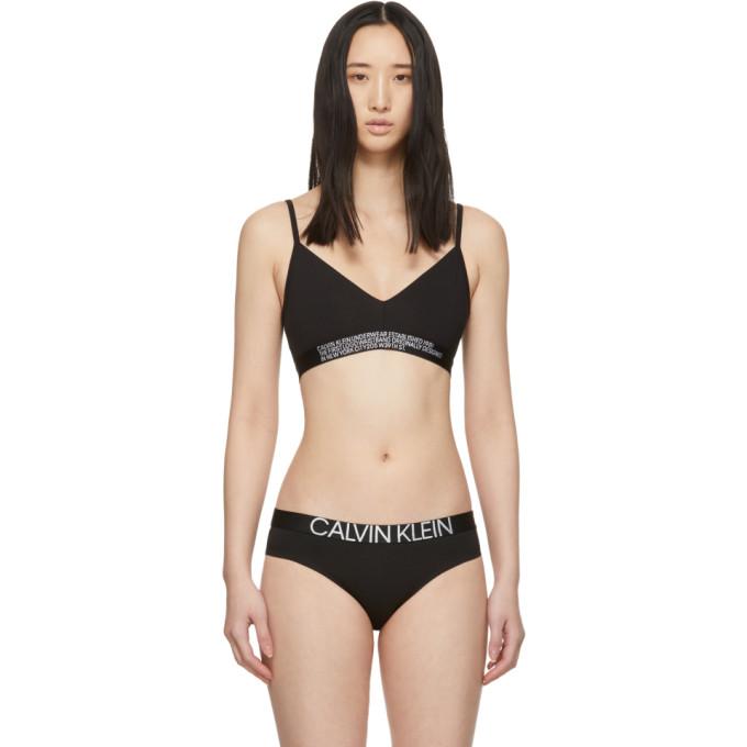 CALVIN KLEIN | Calvin Klein Underwear Reversible Black Statement Bralette | Goxip