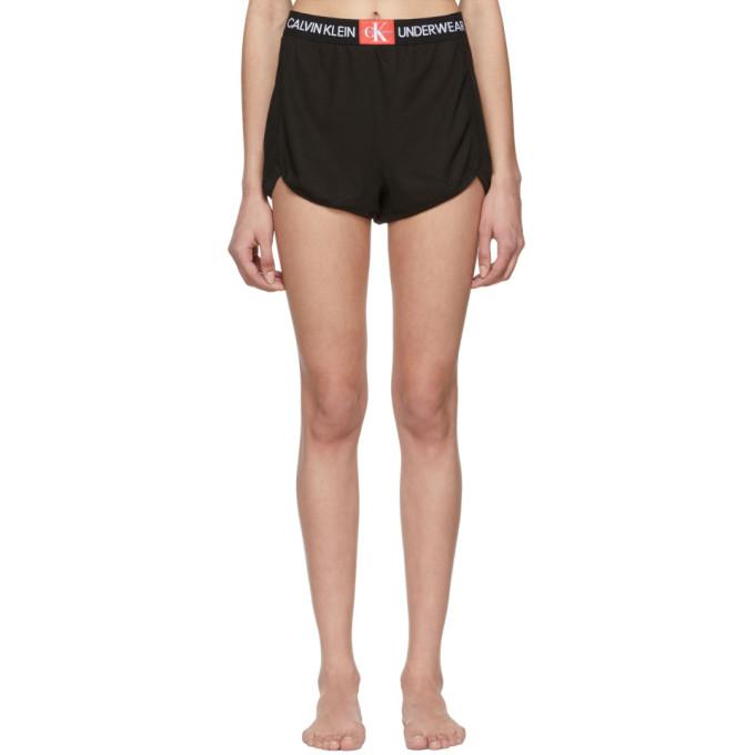 Image of Calvin Klein Underwear Black Mesh Sleepwear Shorts