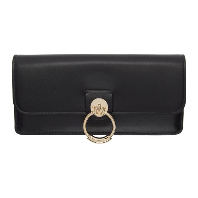 Chloe Black Tess Long Wallet in 001 Black