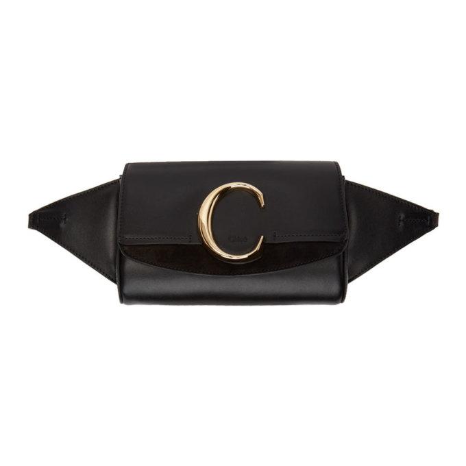 CHLOÉ | Chloe Black Chloe C Belt Bag | Goxip