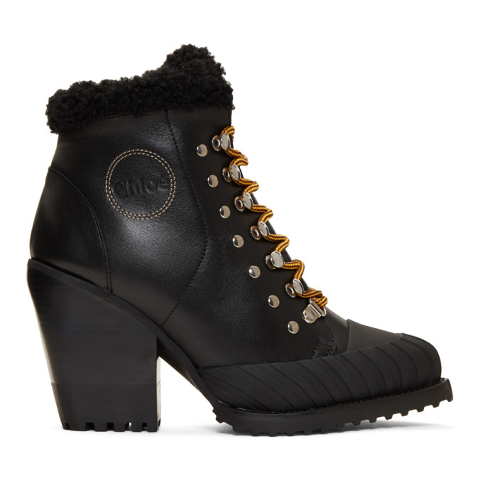 Chloe Black Lined Rylee Mountain Boots