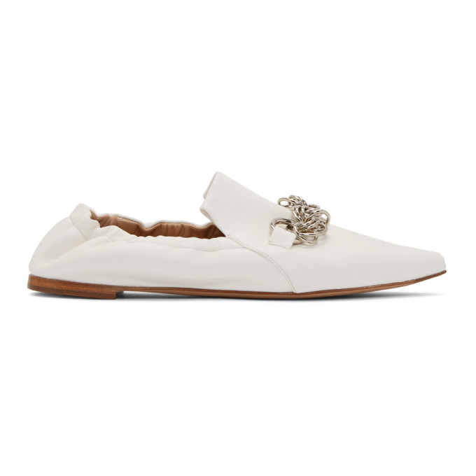 Chloe White Reese Loafers