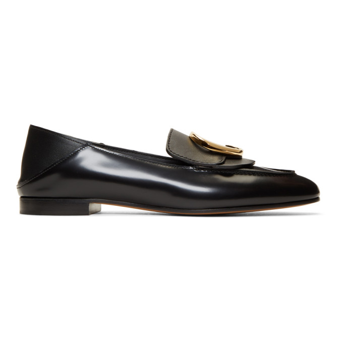 Chloe Black Chloe C Convertible Loafers in 001 Black
