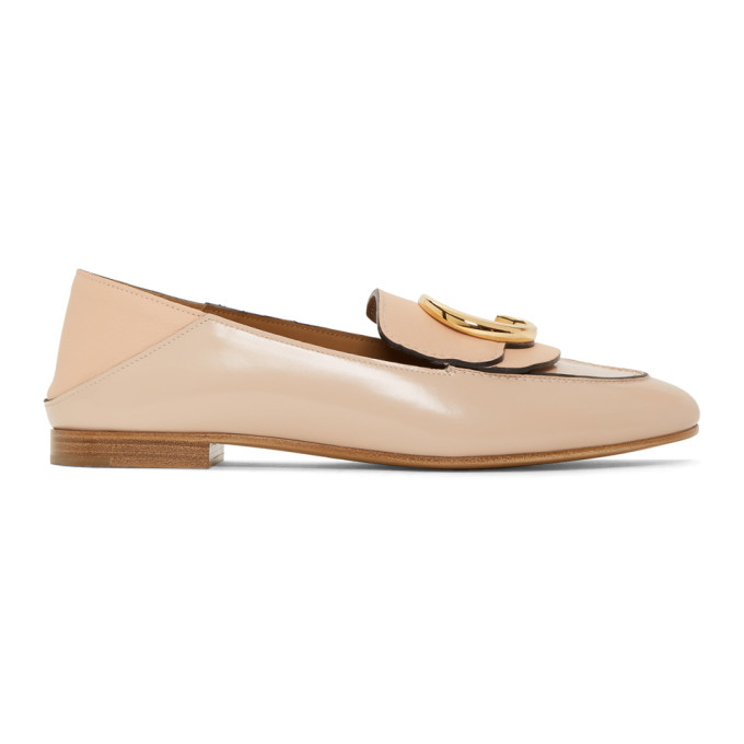 ChloÉ Chloe Pink Shiny Loafers In 6H6 Pink