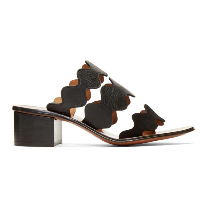 Chloe Black Lauren Heeled Sandals