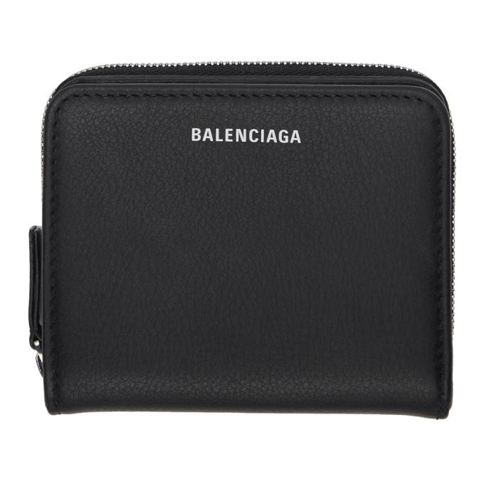 Balenciaga ブラック スモール スクエア ロゴ ウォレット