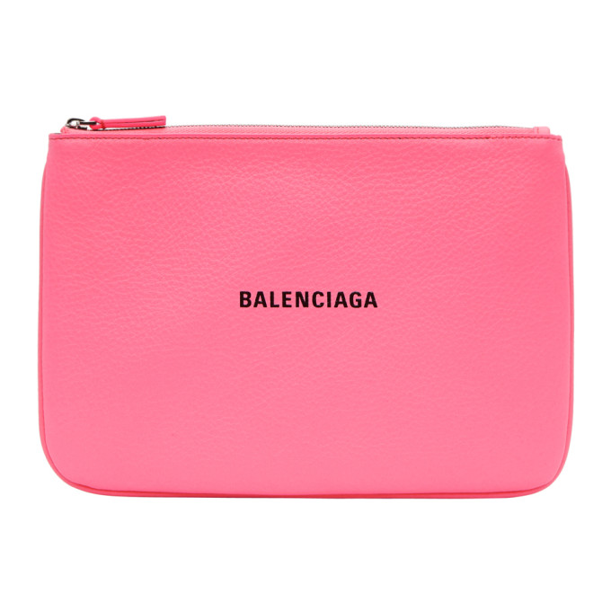 BALENCIAGA | Balenciaga Pink Medium Everyday Pouch | Goxip