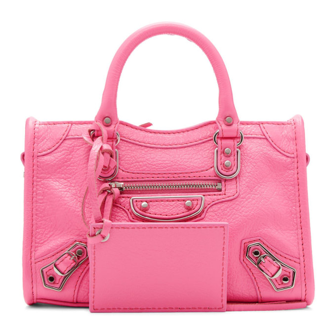 Balenciaga Pink Nano City Bag