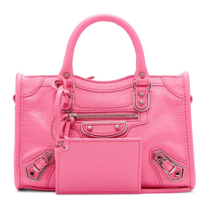 Balenciaga Pink Nano City Bag