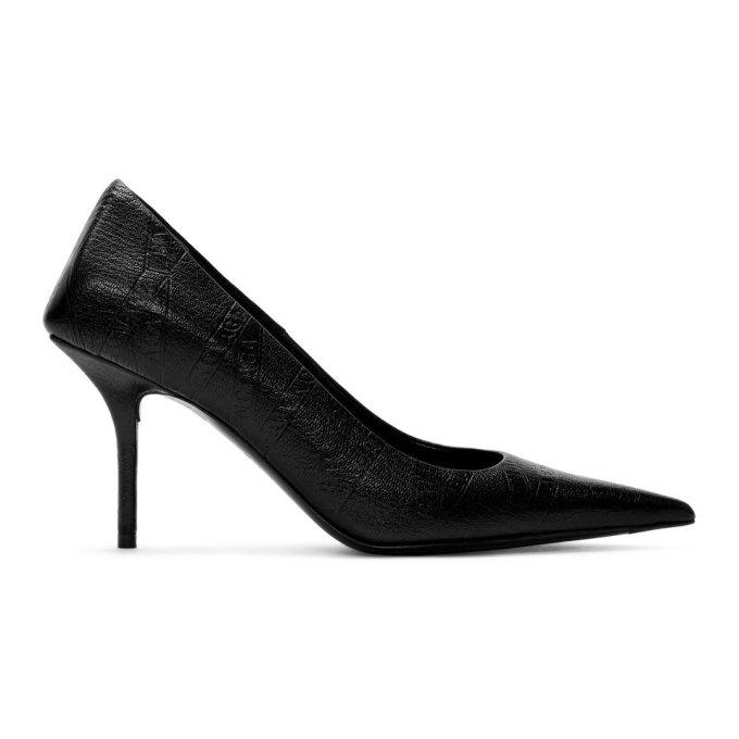 Balenciaga Black Square Knife Heels